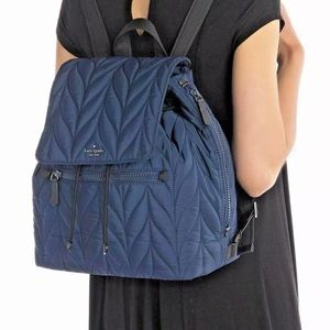 New Kate Spade Large Flap Backpack Elle WRKU5825
